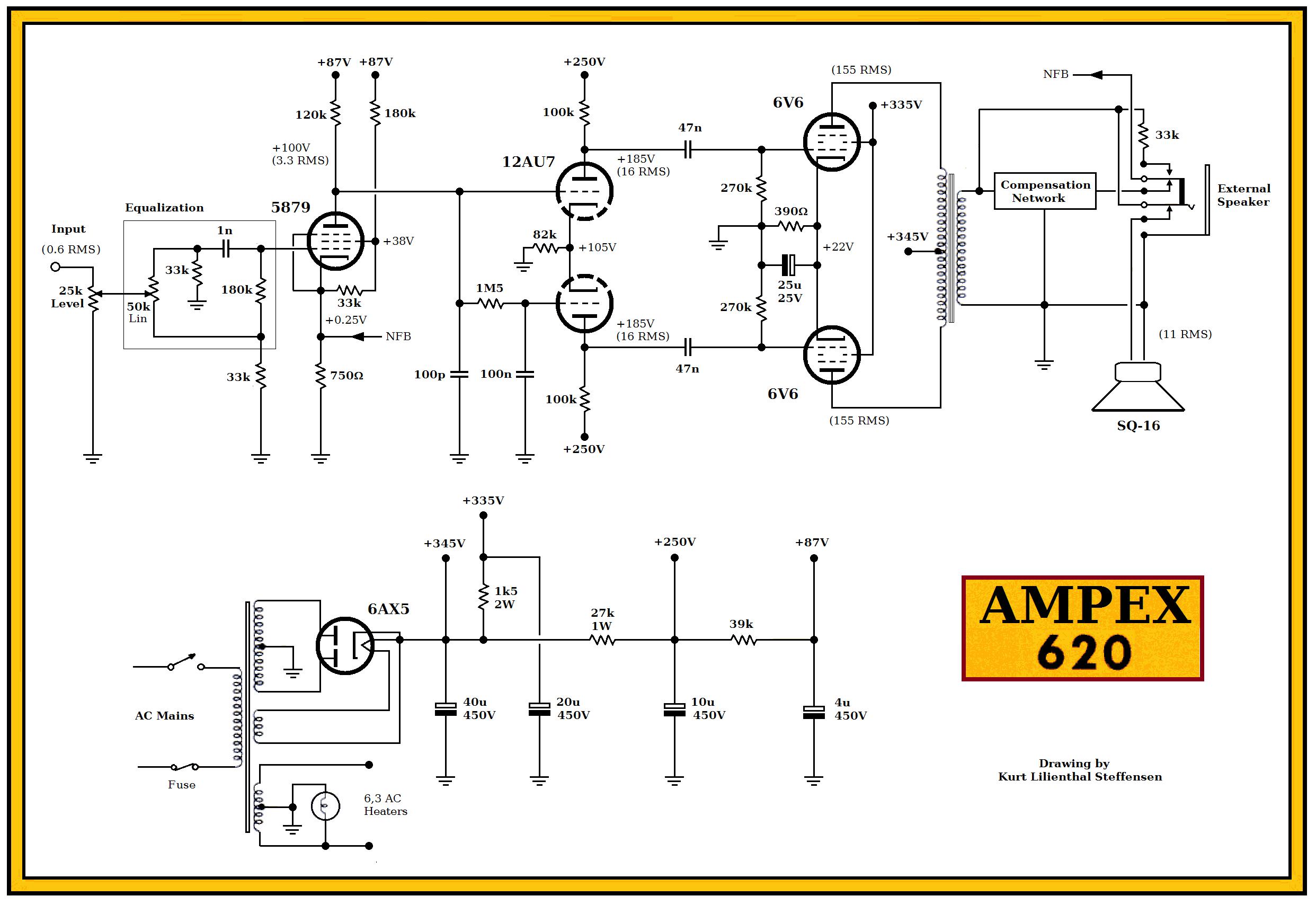 833420677_d1iCLrna_Ampex-620-6V6-PP-ed Quad Schematic on